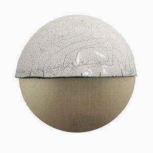 Raku-Yaki Applique D Wandlampe von Emmanuelle Simon