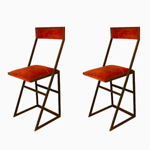 Italian Bar Stools by Romeo Rega, 1960s, Set of 2