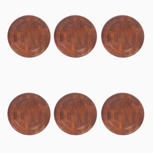 Danish Oiled Teak Plates from Digsmed, 1960s, Set of 6