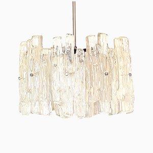 Mid-Century Milk Glass Ceiling Lamp