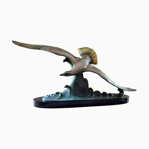 Art Deco Seagull Sculpture by Louis-Albert Carvin, 1925