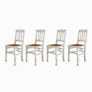 Estonian Art Nouveau Kitchen Chairs from Luterma, Set of 4