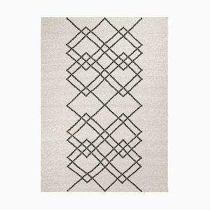 Black Ecru Borg Rug 02 by Louise Roe