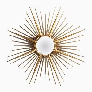 Französischer Mid-Century Spiegel mit Rahmen in Sonnen-Optik von Chaty Vallauris, 1950er
