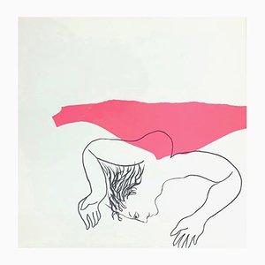 Doppelseitige Les Drogués Lithografie von Enrico Baj für Rosseau, 1972