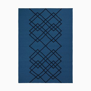 Alfombra Borg 03 de azul rey de Louise Roe