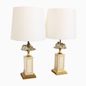Tall Fruit Lamps from Maison Charles, 1970s, Set of 2