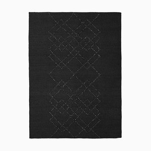 Black on Black Borg 03 Rug by Louise Roe
