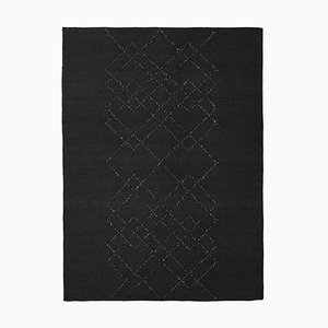 Black on Black Borg 04 Rug by Louise Roe