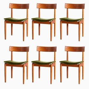 Vintage Tyr Stühle aus Teak von Nils Jonsson für Troeds, 1950er, 6er Set