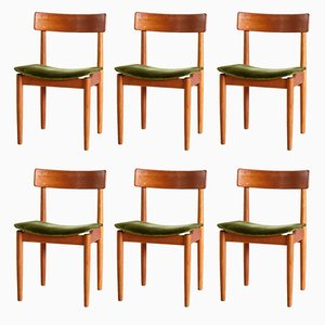 Vintage Tyr Teak Chairs by Nils Jonsson for Troeds, 1950s, Set of 6