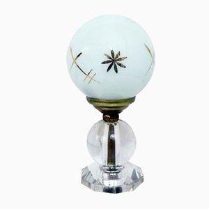 Lámpara de mesa Art Déco de vidrio opalino, años 30