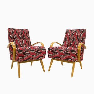 Armchairs by Jaroslav Smidek for TON, 1960s, Set of 2