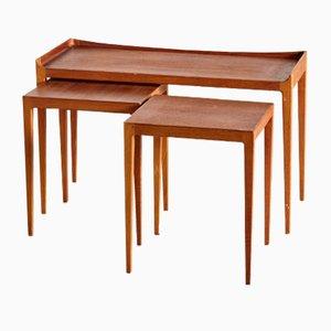 Tables Gigognes Mid-Century en Teck par Kurt Ostervig pour Jason Møbler, 1958