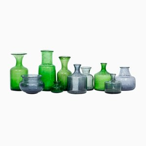 Swedish Glass Vases by Erik Höglund for Boda, 1950s, Set of 10