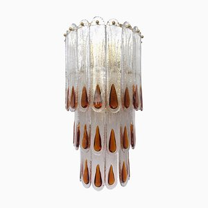 Große Wandlampe aus Muranoglas von Mazzega, 1970er