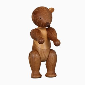 Oak & Maple Bear Sculpture by Kay Bojesen for Rosendahl, 1970s