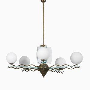 Lámpara de araña italiana de Fontana Arte, años 70