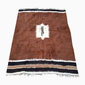 Alfombra turca de lana de angora, años 70