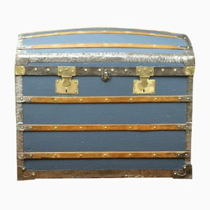 Antique Blue Trunk from Au Bon Marché