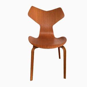 Sedia Grand Prix in teak di Arne Jacobsen per Fritz Hansen, anni '60
