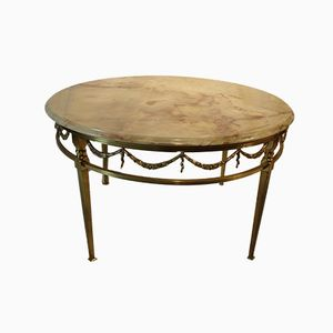 Table Basse en Bronze, 1950s