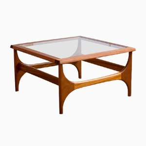 Square and Glazed Coffee Table, 1960s
