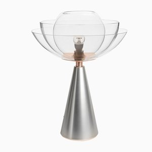 Lampe de Bureau Lotus en Nickel Blanc Mat par Serena Confalonieri pour Mason Editions