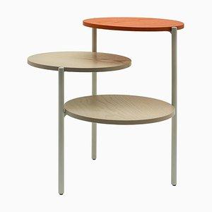 Tavolo Triplo piccolo grigio e arancione di Martina Bartoli per Mason Editions