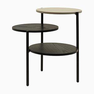 Kleiner Triplo Tisch in Schwarz & Grau von Martina Bartoli für Mason Editions