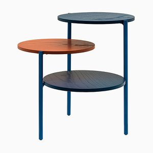Small Blue & Coral Triplo Table by Martina Bartoli for Mason Editions