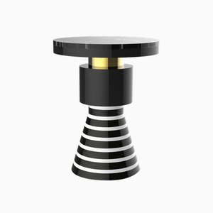 Wapi Variation 2 Side Table with Gold Band & Black Top from CASALTO