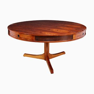 Round Rosewood Dining Table with 4 Drawers by Robert Heritage for Archie Shine, 1957
