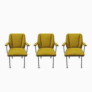 Italienische Vintage Sessel, 1950er, 3er Set