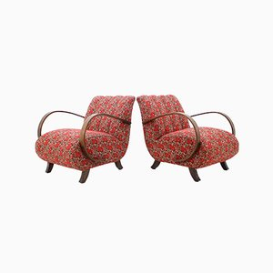 Armchair by Jindřich Halabala for UP Závody, 1950s, Set of 2