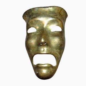 Maschera vintage in ottone di Hans Schirmer, anni '50