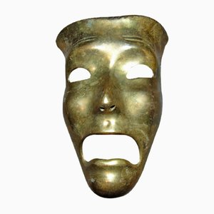 Vintage Brass Mask by Hans Schirmer, 1950s