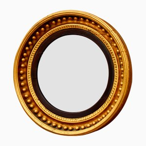 English Regency Round Giltwood Wall Mirror, 1810s