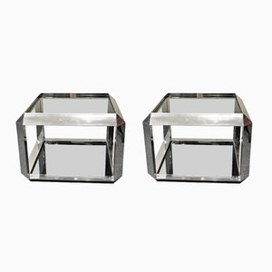 Coffee Tables by Alberto Rosselli for Saporiti, 1970s, Set of 2