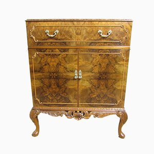 Burr Walnut Queen Anne Cabinet