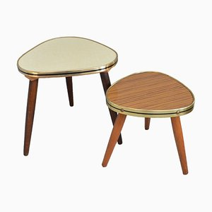 German Kidney Side Tables, 1950s, Set of 2