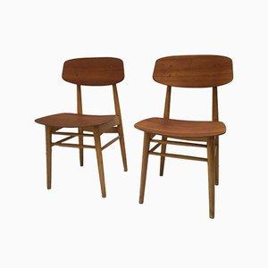Esszimmerstühle von Børge Mogensen für Søborg Møbelfabrik, 1950er, 2er Set
