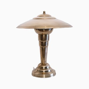 Lampada da tavolo vintage in rame, Francia, anni '50