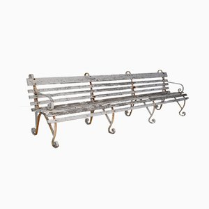 Antique Wrought Iron Garden Bench from Dover Port