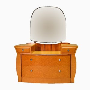 Art Déco Dressing Table with Mirror, 1930s