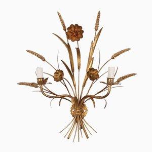Aplique en forma de gavilla de trigo de latón, años 70