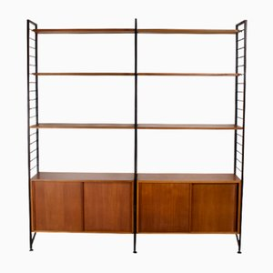 Vintage Teak & Metal Ladderax Shelving Unit by Robert Heal for Staples, 1960s