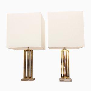Lampade da tavolo moderniste di Willy Daro, anni '70, set di 2