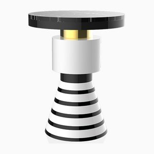 Wapi Variation 4 Side Table with Gold Band & Black Top from CASALTO