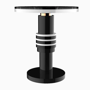 Chimalis Variation 2 Side Table with Copper Band & Black Top from CASALTO